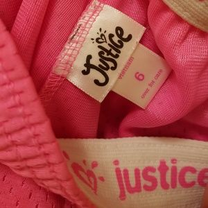 Girls Shorts, Justice, Pink, 6